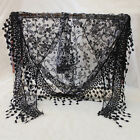9 Color Women Girls Long Rose Embroidery lace Triangle Scarf Wrap Shawl Scarves
