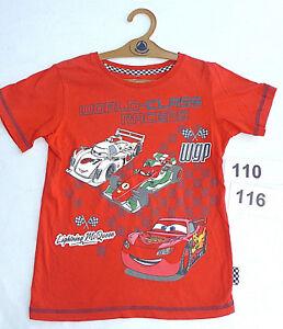 CARS-Lightening-Mc-Queen-Speed-Auto-T-Shirt-Racer-Disney-Gr-110-116