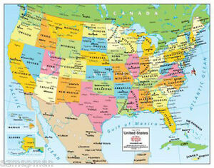 Details about Wide World Maps United States Desktop Map 14\