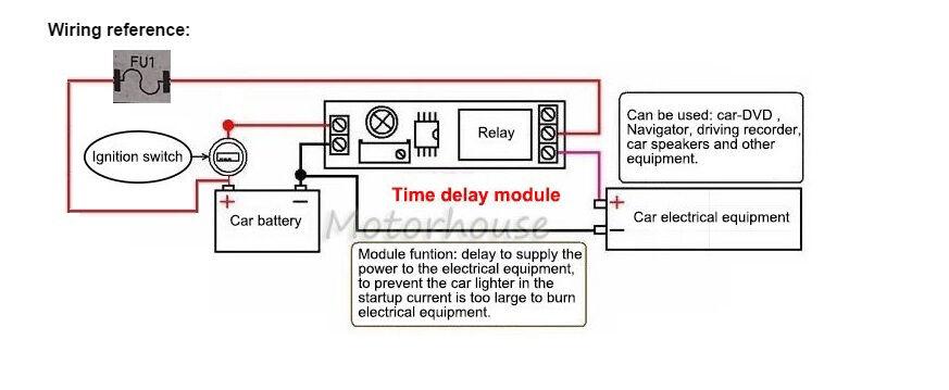 dc 5v 12v 24v trigger delay time turn on switch timer 12v flasher relay wiring diagram