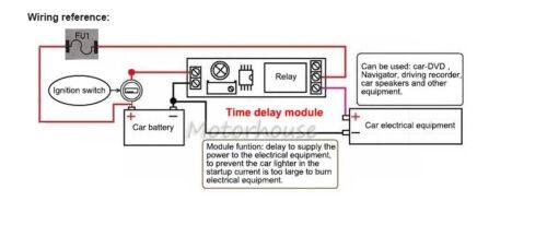 DC 5V 9V 12V 24V Timer Trigger Delay Turn On Board Time Switch Relay Module Car