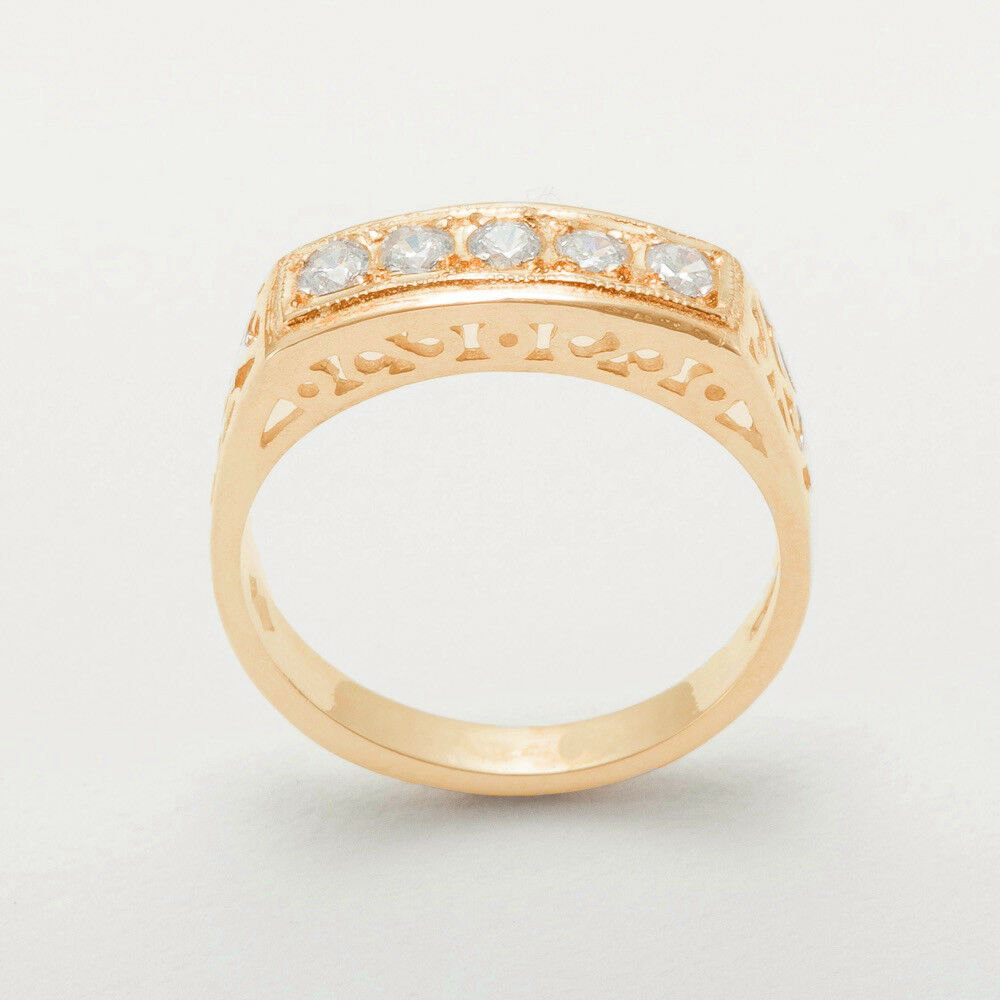 9ct pink gold Cubic Zirconia Womens Eternity Ring - Sizes J to Z