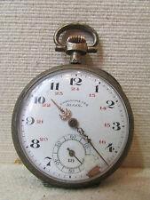 ancienne montre a gousset chronometre 19 eme argent monogramme RG algol