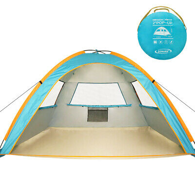 official photos 1664f bcd1a Instant Beach Tent Sun Shelter 3-4 Person, Pop Up Beach Umbrella Easy Setup  Tent   eBay