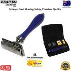 HairTalks Safety Razor Shaver 15 Double Edged Blades Premium Quality