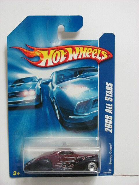HOT WHEELS 2008 ALL STARS SWOOP COUPE RED