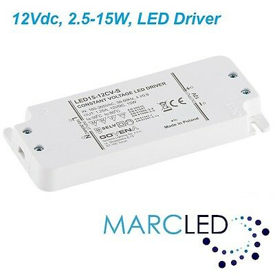 with mount ears Z-LED-15W-12CV-SLIM 15W 12VDC LED Driver small size