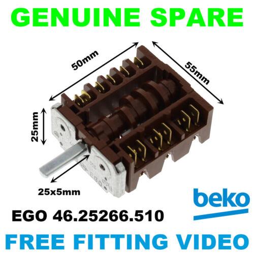 Beko EH9602XO S502S S502W SH5604H FORNO ORIGINALE SELETTORE 46.25266.510