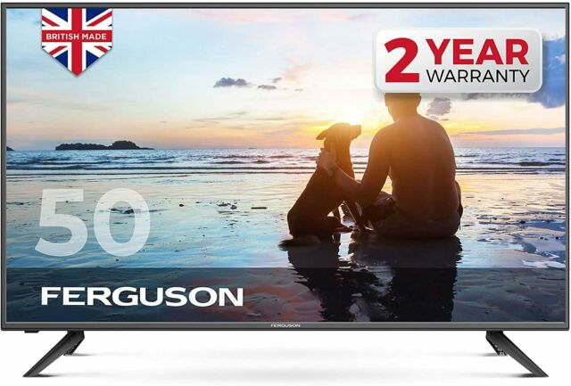 "FERGUSON 50"" inch 4K ULTRA HD LED SMART TV WITH WIFI 3 x HDMI, USB. MADE IN UK"