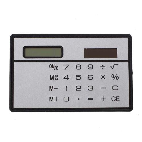 Solarenergie Scheckkartenformat Taschenrechner DE Q5V9 P1R1 GJ 2X