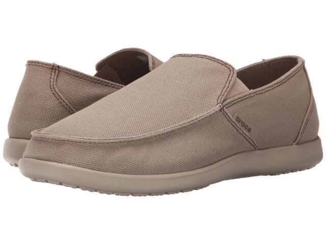 a367f3c4a288 Men Crocs Santa Cruz Clean Out Loafer 202972-2U6 Khaki Cobbes 100% Original  New