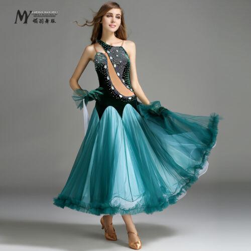 2017 NEW Ballroom Competition Dance Dress Modern Waltz Tango Standard #MY746