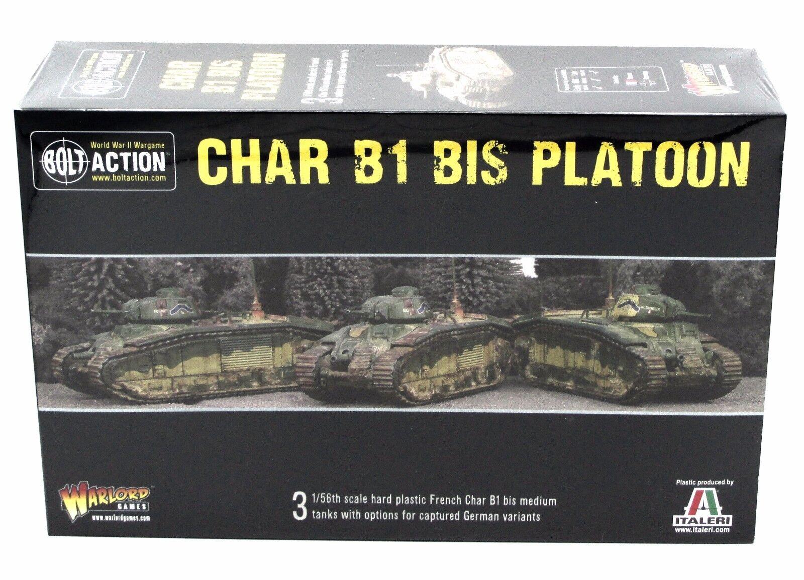 Bolt Action 402015501 WWII Char B1 bis Platoon French German Gun Flame Tanks NIB