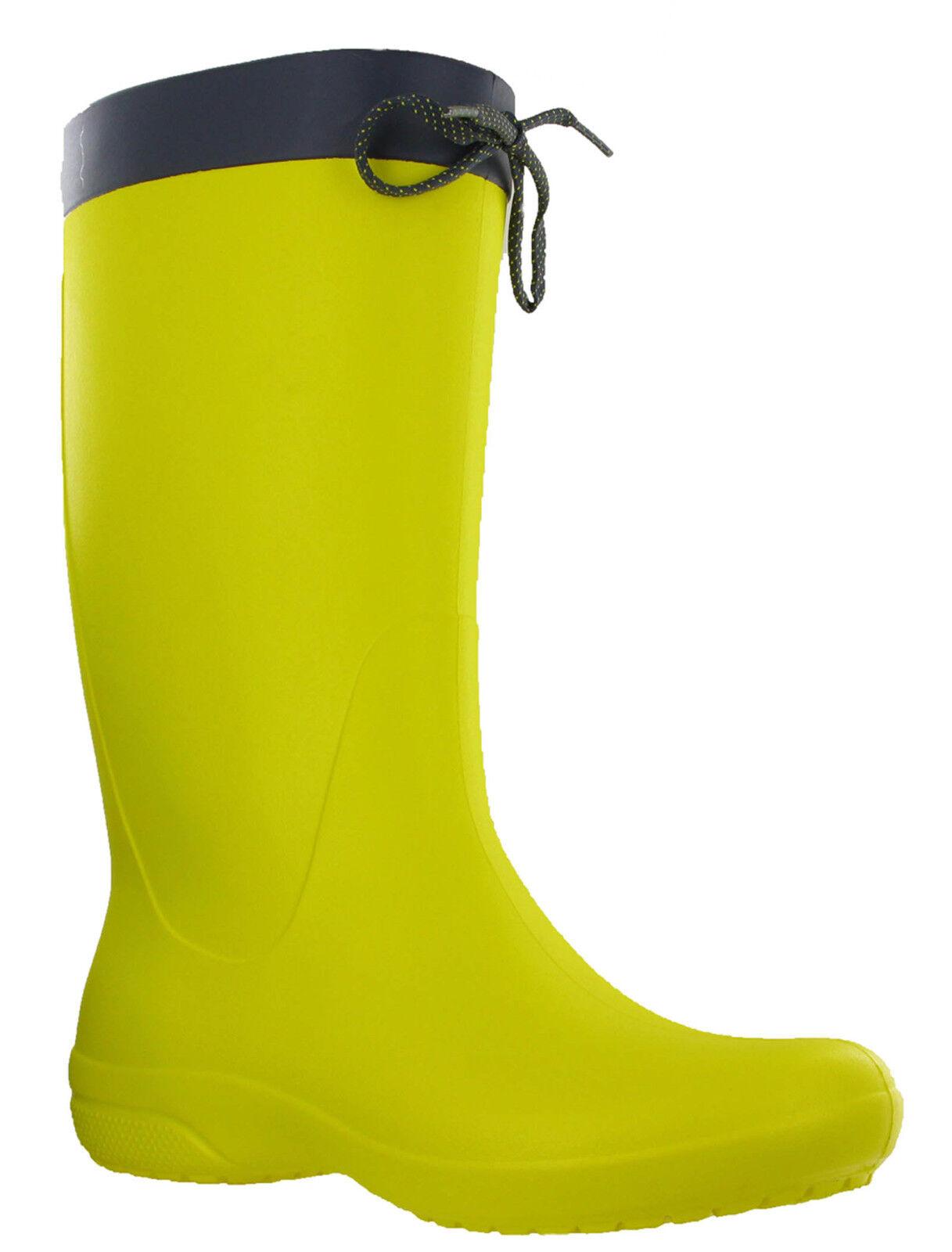 Crocs Freesail Winter Regenstiefel Damen Wade Winter Freesail Hineinschlüpfen Leicht Stiefel a5aa3b