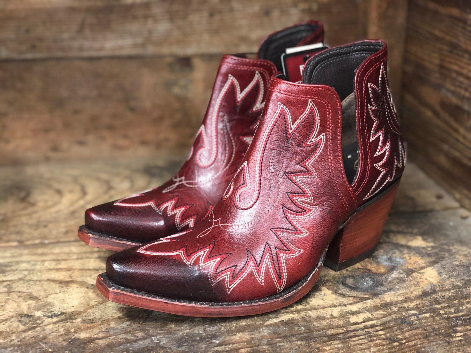 Ariat Mujer Mujer Mujer Dixon Rojo botas al Tobillo Shortie SNIP del dedo del pie 10027285  tienda