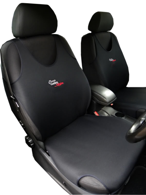 / Black Heavy Duty Truck Black and Grey 2/ x Car Seat Covers/