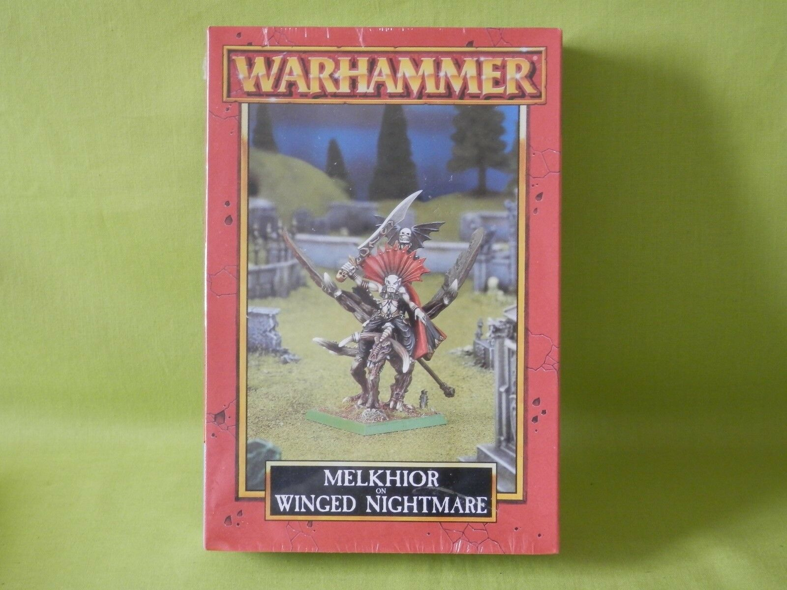 WARHAMMER  - VAMPIRE COUNTS ARMY MELKHIOR ON ON ON WINGED NIGHTMARE MISB a3ab02