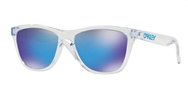 Oakley 9013 Frogskins D0 Crystal Clear Sunglasses Sole Prizm Sapphire Iridium
