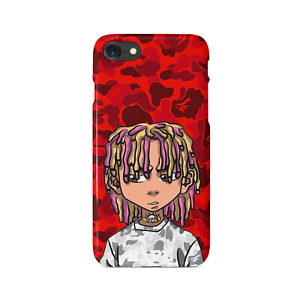 new arrival 55590 14c19 Details about Lil PUMP Boondocks BAPE Red Camo iPhone Case | US SELLER