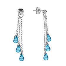 14k white gold blue topaz chandelier earrings ebay 14k solid white gold chandelier earrings withdiamonds blue topaz aloadofball Image collections