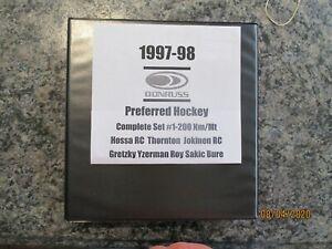 1997-98 Donruss Preferred full set 1-200 Gretzky Yzerman Roy Platinum Hossa RC