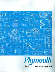 Details about 1967 PLYMOUTH BELVEDERE/ VALIANT SHOP MANUAL WITH SEPARATE  CUDA SUPPLEMENT