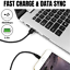 miniature 6 - 3Pack 10Ft Braided USB Fast Charger Cable For iPhone 12 11 8 6 XR Charging Cord