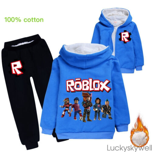 New Boys Girls Roblox Hooded Tops Kids Casual Hoodie Roblox Kids Girl Boy Casual Hooded Jacket Winter Warm Hoodie Coat Outerwear 2pcs Innovatis Suisse Ch