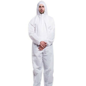 Disposable-Coveralls-Clothing-Protective-Safety-Overalls-Suit-Full-Protection