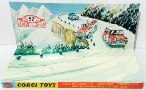 Custom Display Diarama for CORGI TOYS Gift Set 38 RALLYE MONTE CARLO Mini Rover
