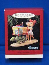 Hallmark 1995 Flintstones Betty and Wilma Christmas Ornament Grocery Shopping TV