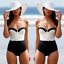 New-Women-039-s-Swimwear-One-Piece-Swimsuit-Monokini-Push-Up-Padded-Bikini-Bathing thumbnail 1