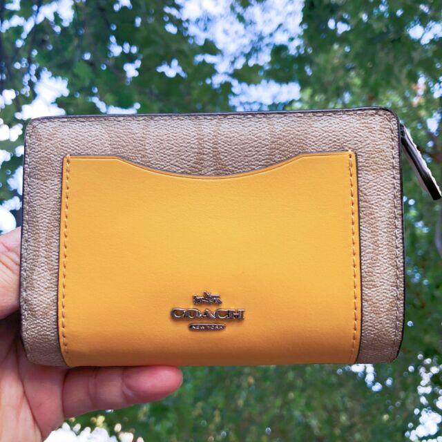 b65c0154c50d5 Coach Colorblock Signature Pvc leather Medium Corner Zip Wallet F57824