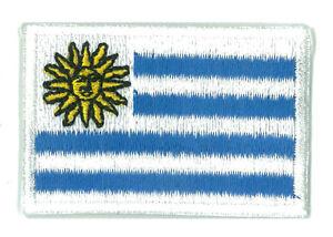 Écusson patche patch drapeau URUGUAY petit 45 x 30 mm brodé thermocollant