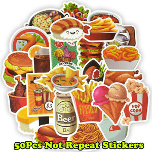50Funny-Food-Skateboard-Stickers-bomb-Laptop-Luggage-Decals-Graffiti-Sticker