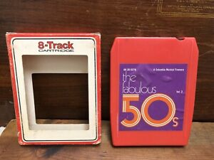 The-Fabulous-50-s-Vol-2-8-Track-Tape-Various-Artists-Columbia-Pop-w-Box-VGC