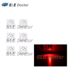 100pcs 5mm Piranha Super Flux Red Light 4Pin Round Top LED Diodes 620-630nm
