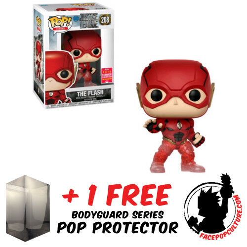 FUNKO POP DC FLASH RUNNING TRANSPARENT SDCC 2018 EXCLUSIVE FREE POP PROTECTOR