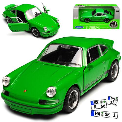 Porsche 911 Urmodell RS 2.7 Coupe Grün mit Schwarz 1963-1973 ca 1//43 1//36-1//46 W
