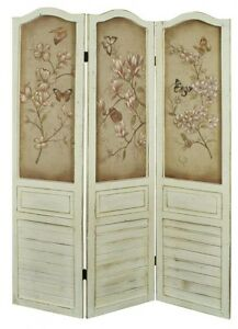 chic floral butterfly design wooden room divider screen ebay