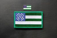 York Police Department Flag Patch Velcro® Brand & Lapel Pin Set Nypd Finest