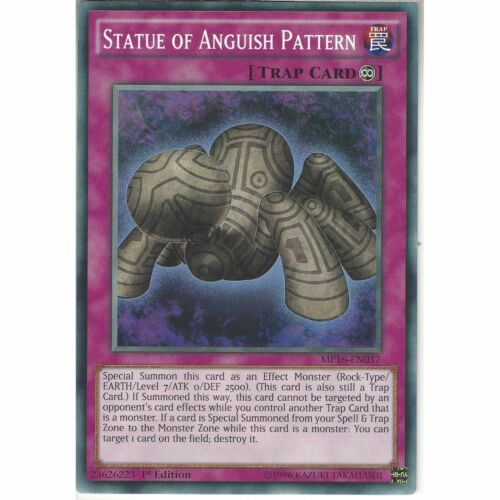 MP16-EN037 Statue of Anguish Pattern1st Edition Common CardYuGiOh TCG Trap