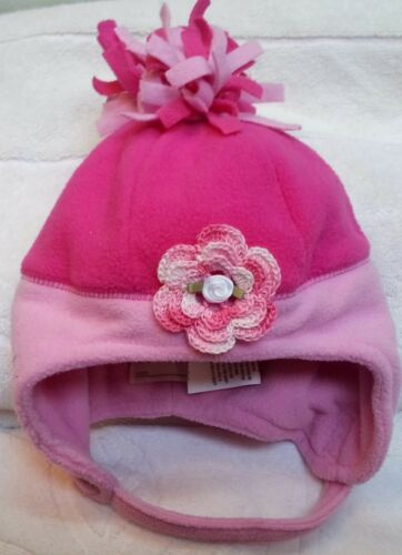 NEW PINK FLEECE HAT 6 9 12 18 24 MONTHS 2 2T 3 3T 4 4T GIRLS BABY INFANT TODDLER