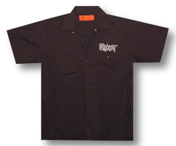 Slipknot-Logo-Band-Black Button Down Workshirt