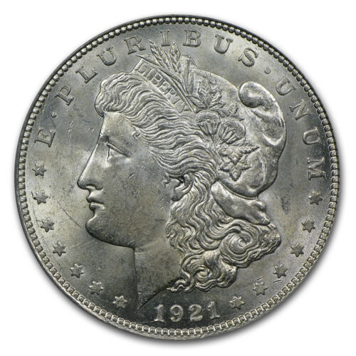 SKU #7572 1921-D Morgan Dollar MS-63 PCGS