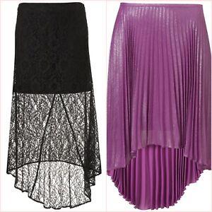 Topshop-Black-Lace-Or-Purple-Metallic-Pleated-Midi-Skirt-Size-8-10-UK-US-4-6