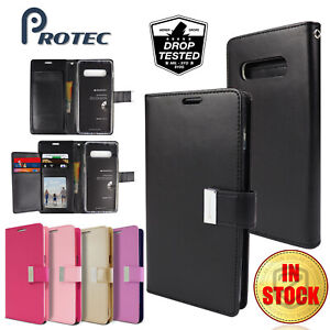 Galaxy-S10-5G-S10e-S9-Plus-Case-GOOSPERY-Flip-Leather-Wallet-Card-For-Samsung