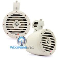 """CERWIN VEGA VMC65W WHITE GLOSS 6.5"""" 2-WAY TWEETER MARINE BOAT TOWER SPEAKERS NEW"""