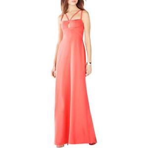 8585b77f1d134 BCBG Max Azria 'Kelbie'~ Orange Double Strap Cut-Out A-Line Gown 4 ...