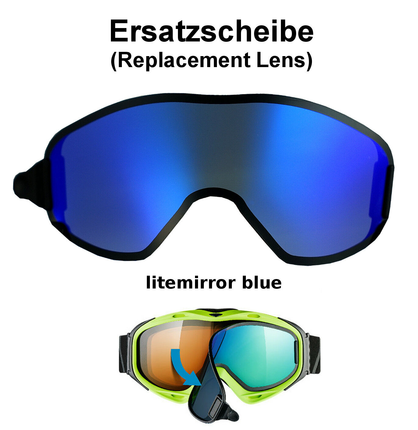 Uvex G. GL 300 Uvision Take Off Replacement Disc Colour Blau Ski Goggles Goggle Glasses